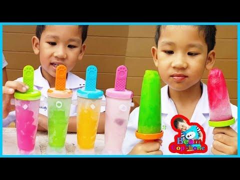 น้องบีม   Learn color with ice cream เรียนรู้สีทำไอติมสี่สหายกับน้องบีม