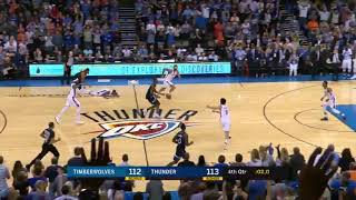 Andrew Wiggins Game-Winner - Oklahoma City Thunder vs. Minnesota Timberwolves - 22/10/2017