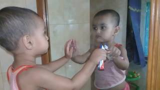Face Vs Mirror funny baby_Funny Baby Sees Mirror For The First Time Compilation Part-02  (2017)
