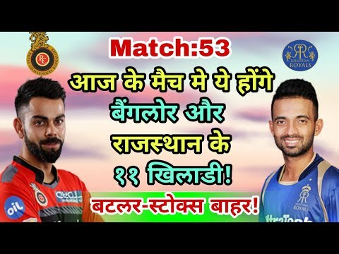 RCB vs RR IPL 2018: Royal Challengers Bangalore vs Rajasthan Royals Predicted Playing Eleven (XI)
