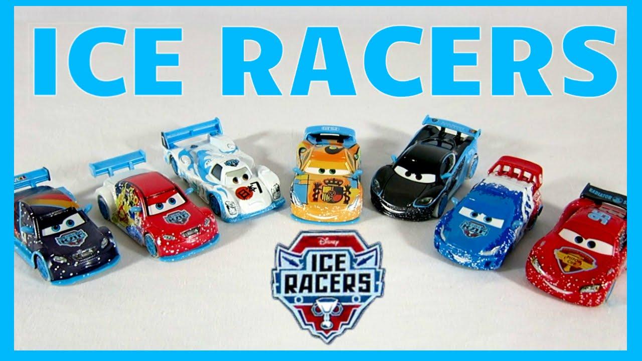 Disney Pixar Cars 2 Ice Racers Drifters Lightning Vitaly Shu Hamilton World Grand Prix Toys Youtube