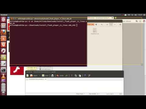 Install Adobe flash player on ubuntu for Firefox