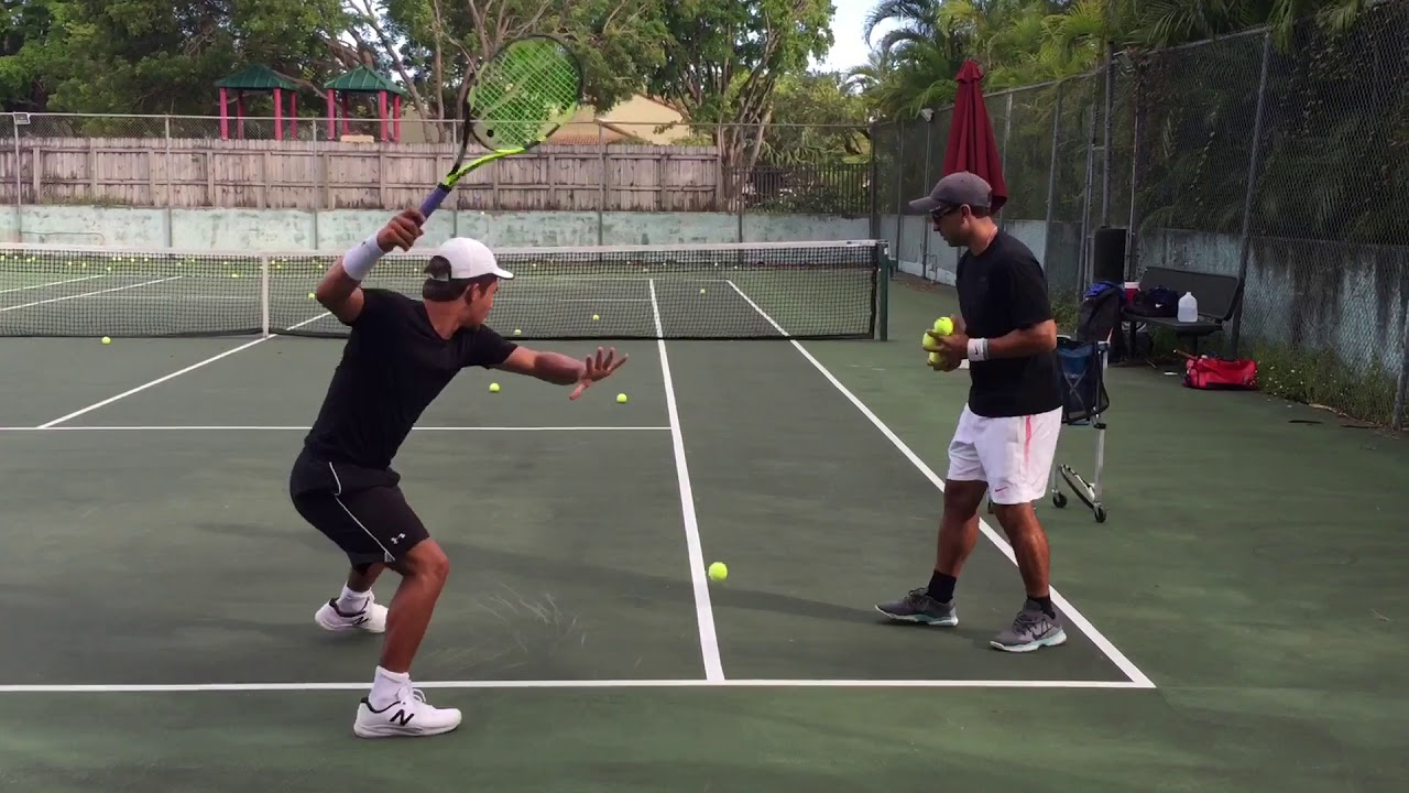 Beginner tennis lessons: forehand and backhands youtube.