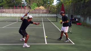 Professional tennis training with coach Brian Dabul (Federer, Nadal, Djokovic)