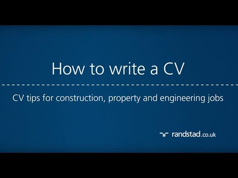 How to write a CV: CV tips for construction, property and engineering jobs
