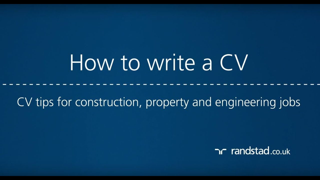How to write a CV: CV tips for construction, property and ...