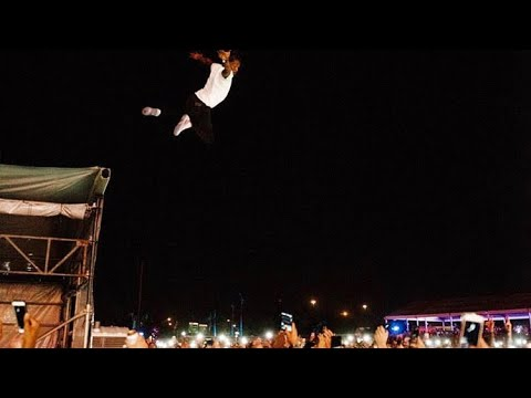 LIL UZI VERT Jumps of 20ft Ledge At Rolling Loud Again LIT!