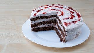 Шоколадный торт без выпечки за 10 минут - торт в микроволновке