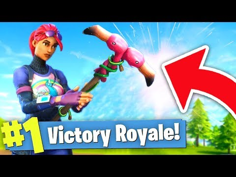WINNING Fortnite Battle Royale with ONLY A PICKAXE?