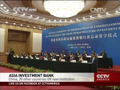China, 20 other countries OK Asia Investment Bank