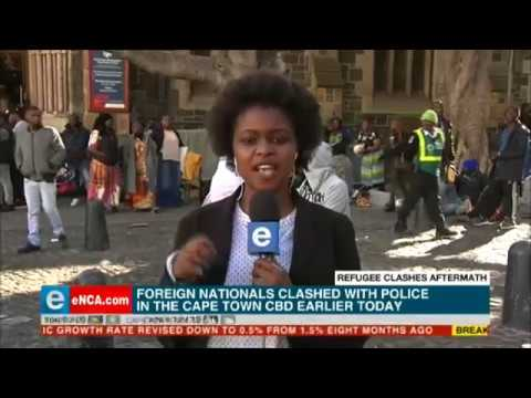 Chaotic scenes in Cape Town