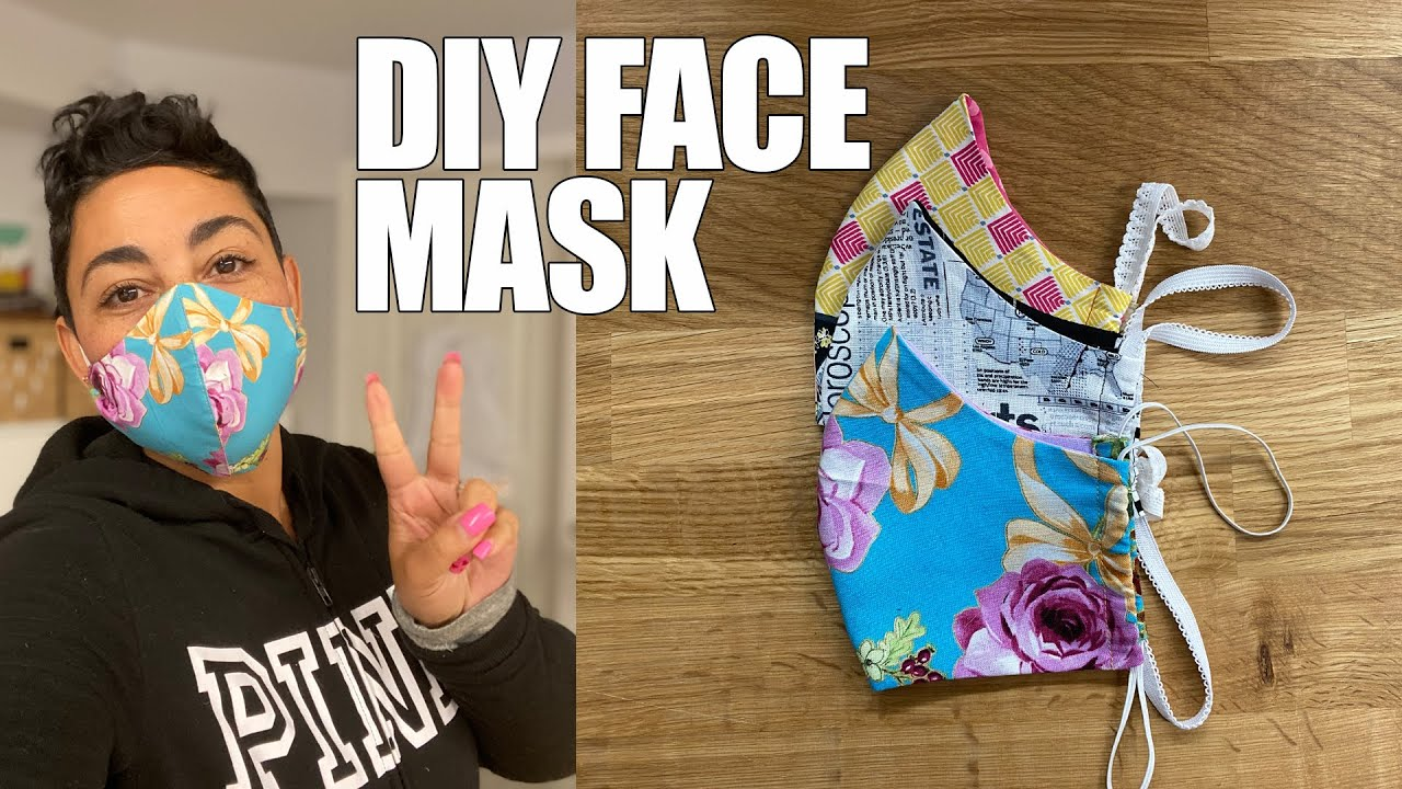 Diy Fabric Face Mask Printable Pattern In Description Box With