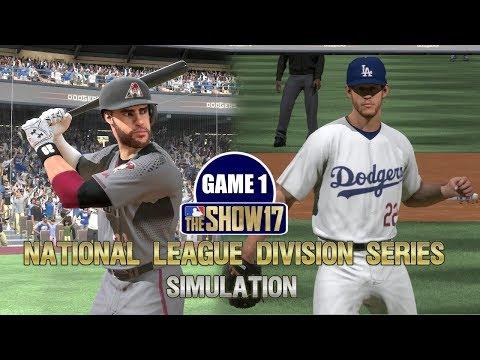 MLB The Show 17 | National League Division Series Dodgers vs Diamondbacks Game 1 Sim