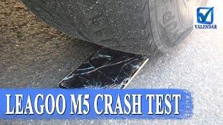 Leagoo M5 Crash test смартфона, падения, орехи и наезд автомобилем