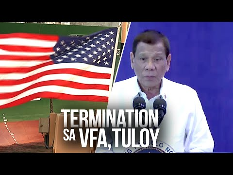 24 Oras: Visiting Forces Agreement, tinapos na ni President Duterte