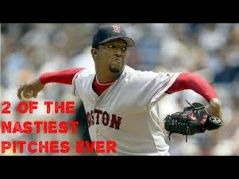 Pedro Martinez Showing Off His Changeup and Curveball