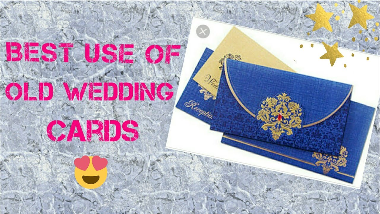 Best use of old wedding cards recycle wedding cards diy s youtube best use of old wedding cards recycle wedding cards diy s solutioingenieria Choice Image