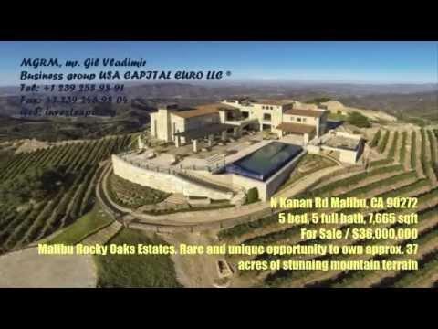 Недвижимость в США. $36,000,000/ Malibu Rocky Oaks Estates 7,665Sq.ft. 37Acres of mountain terrain