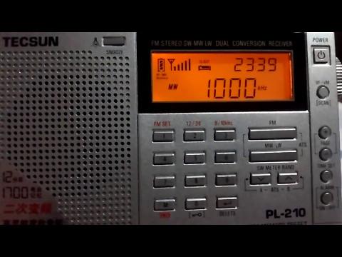 Rádio ZP36 Radio Mil - 1000 kHz AM (Asunción/PRG) - TECSUN PL-210