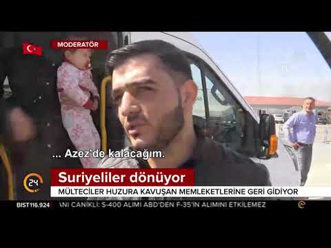 Suriyeli Mülteciler Evlerine Dönmek Için Kilis Sınırında
