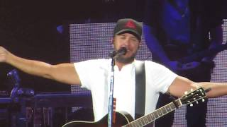 Luke Bryan singing - Most People are Good  Live in concert at Fenway Park 7/6/18