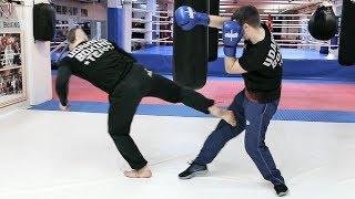 Бой тхэквондист против боксера / Как победить боксера ногами