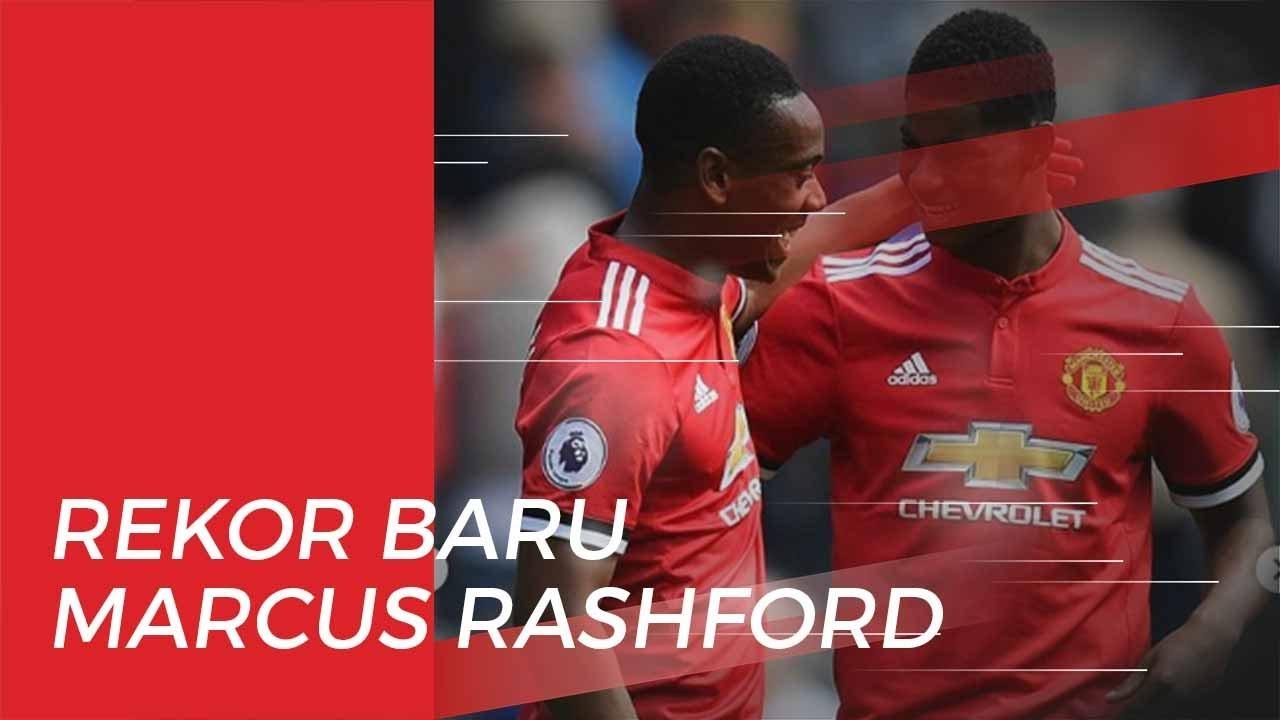 Penyerang Manchester United Marcus Rashford Buat Rekor Baru