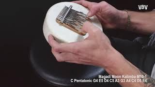 M10-1 - Moon Kalimba - Natural Skin - 10 Tins video