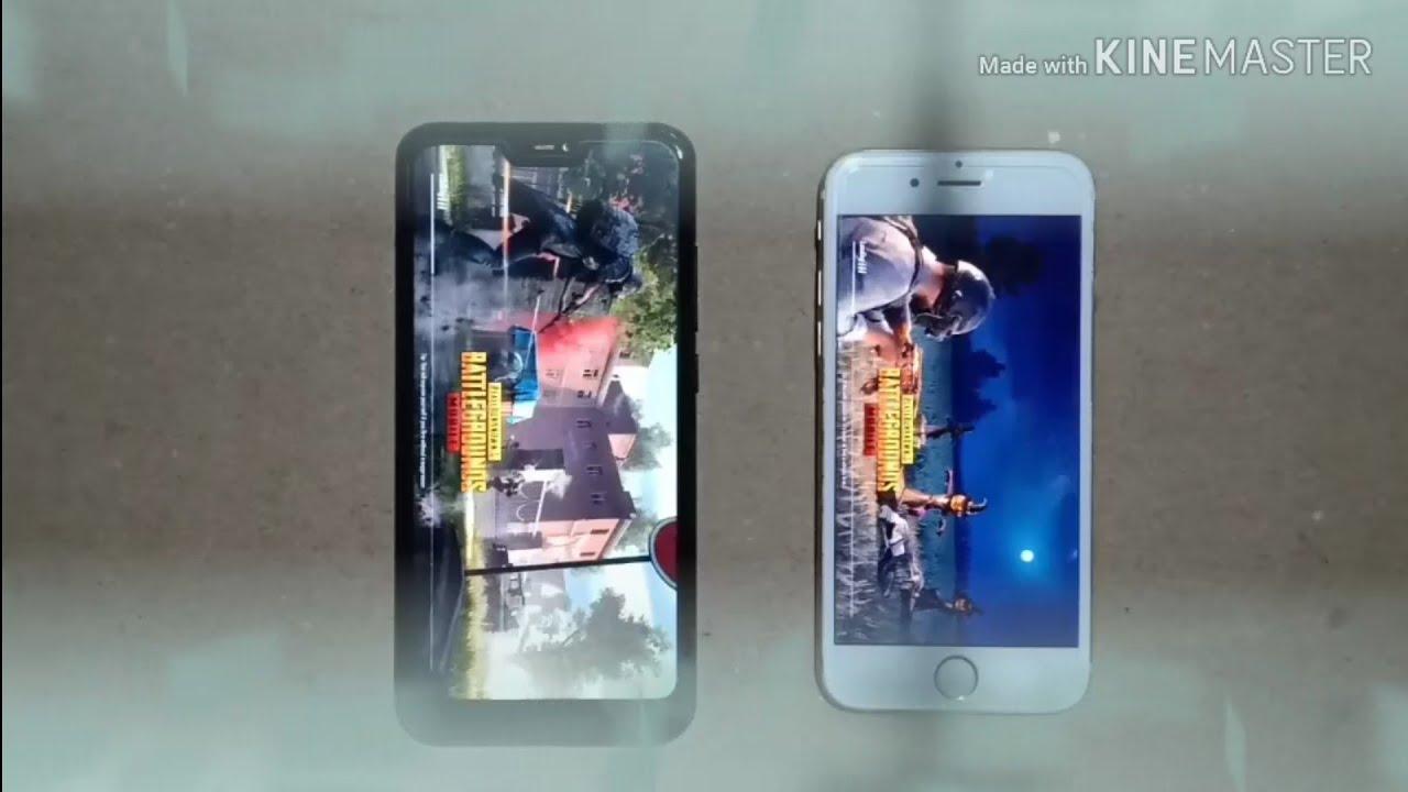 iPhone 6s vs Radmi note 6 pro pubg test