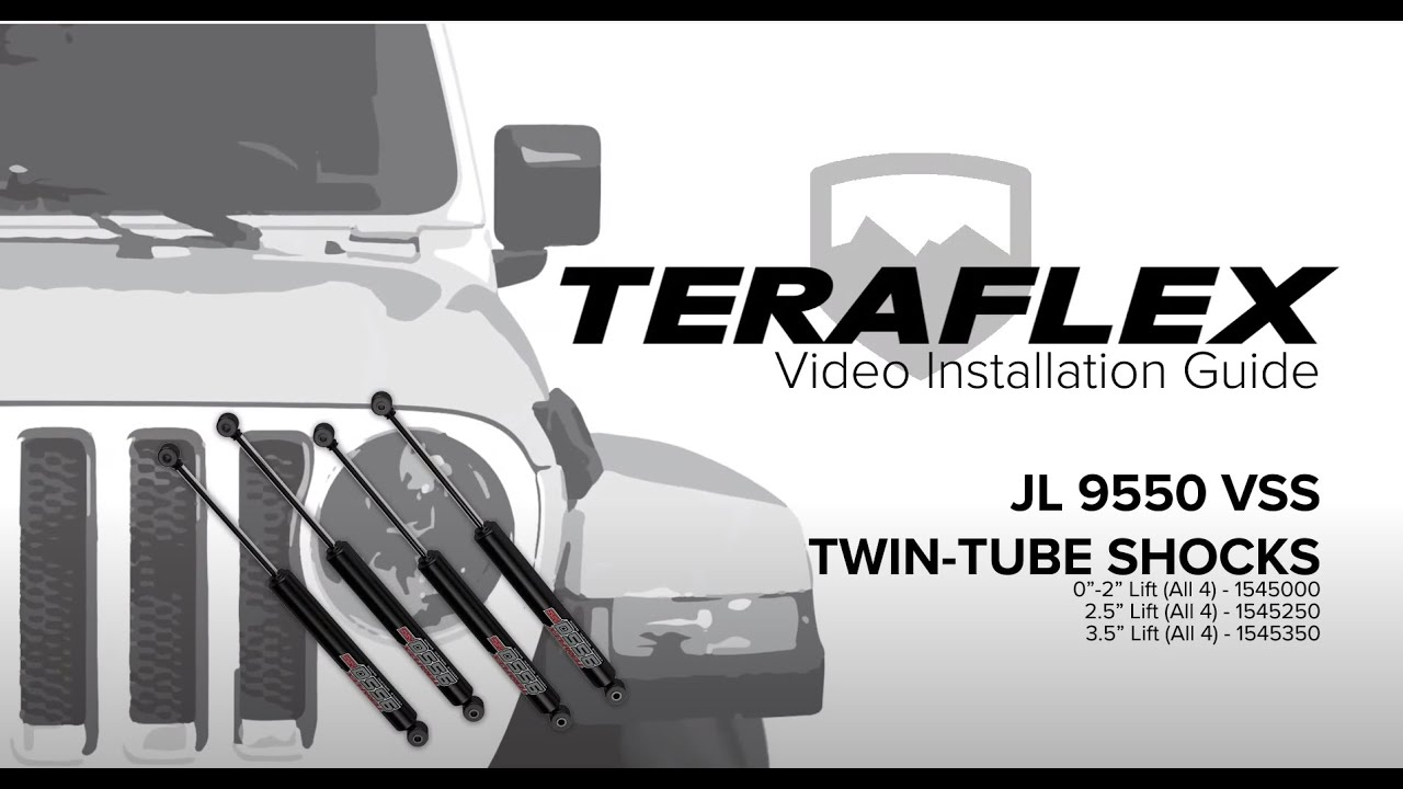 TeraFlex JL//JLU 9550 VSS Twin-Tube Shocks All 4 0-2 Lift