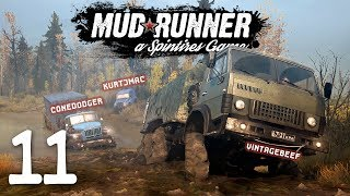 Spintires: Mudrunner Co-op w/ Beef & Cone - 11 - Flooded in Fails