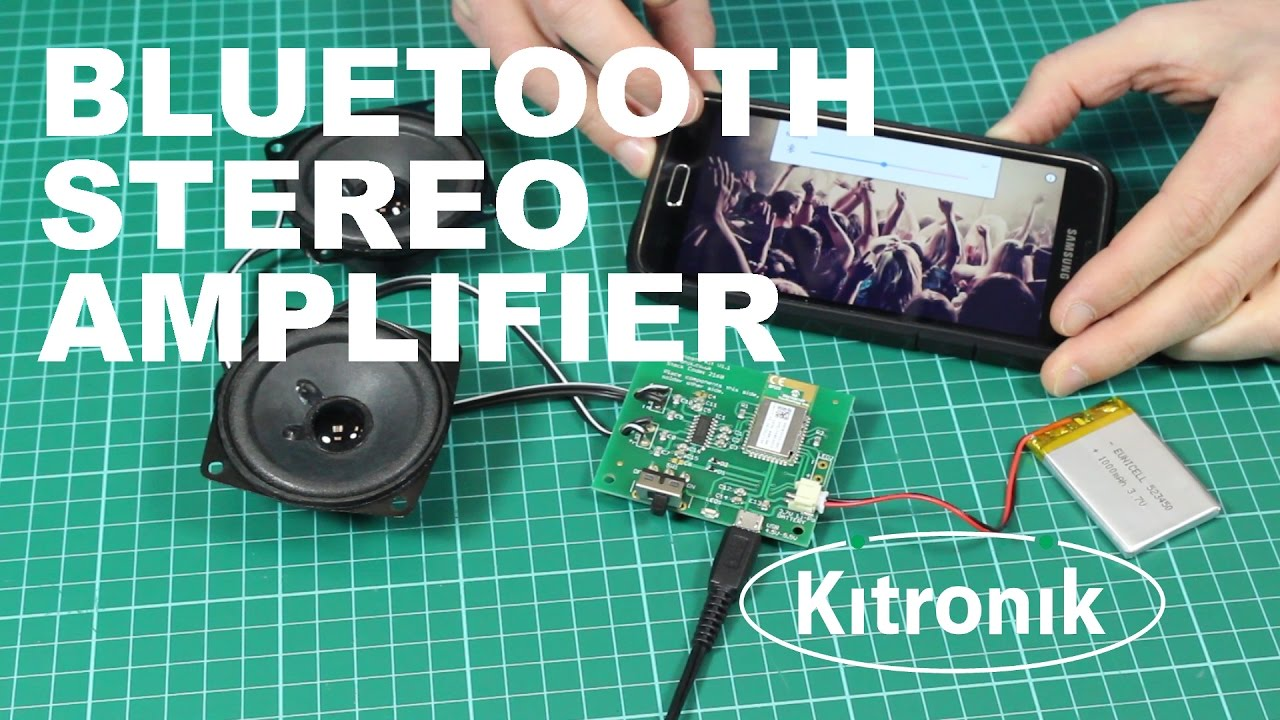 New Product Update: Bluetooth Amplifier Kit - Kitronik
