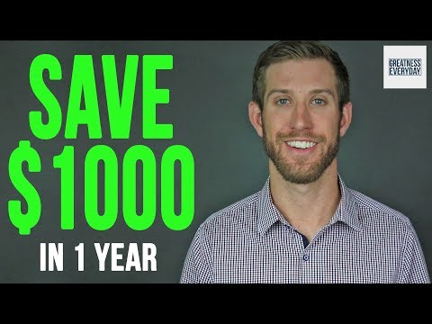How To Save 1000 Dollars In A Year - 1000 Dollar Savings Plan