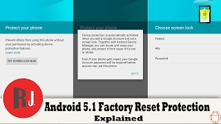 Android 5 1 Lollipop Factory Reset Protection Explained on my Nexus 6