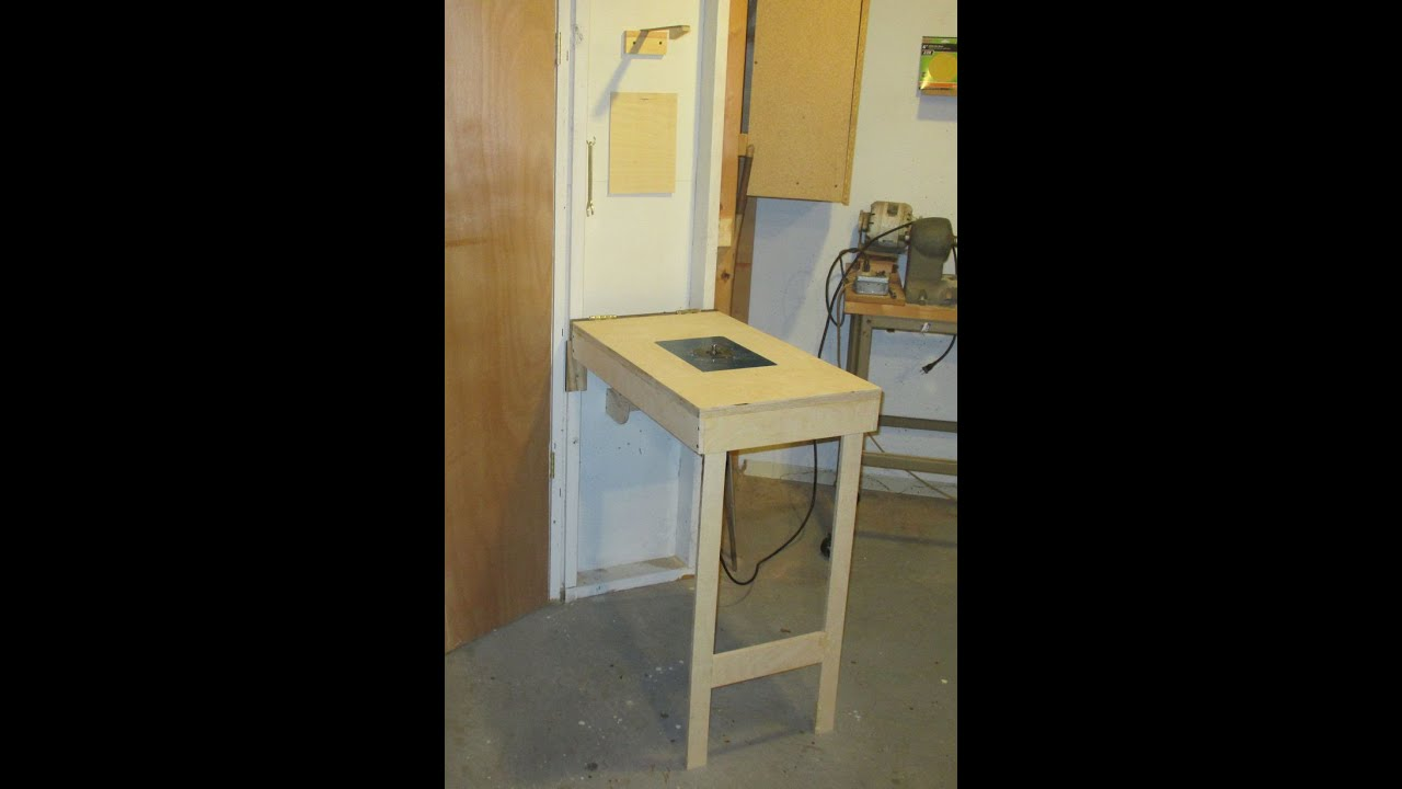 Wall mounted fold down router table youtube keyboard keysfo Image collections