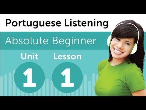 Luyện nghe tiếng Bồ Đào Nha A1- Bài 1: Tại nhà sách