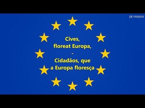 Hino da União Europeia (LAT/PT tradução) - Anthem of EU (Portuguese)