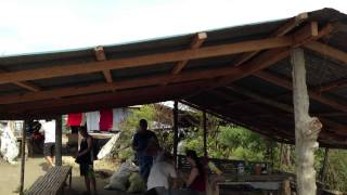 タール火山頂上