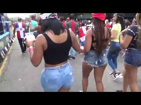 DOMINICAN DAY PARADE 2018 BRONX NEW YORK - DOMINICAN GIRLS PARADE WITH 97.9 LA MEGA LATIN RADIO