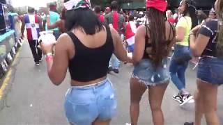 DOMINICAN DAY PARADE 2018 BRONX NEW YORK - DOMINICAN GIRLS PARADE WITH 97.9 LA MEGA LATIN RADIO