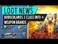 Borderlands 3 WEAPON BRANDS | BRAND Loyalty | Character INFO | Loot News