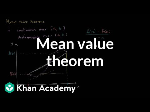 Mean value theorem | Existence theorems | AP Calculus AB | Khan Academy