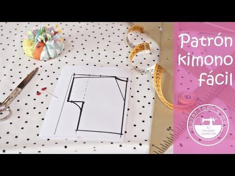 Trazar patrón de kimono a medida, fácil!