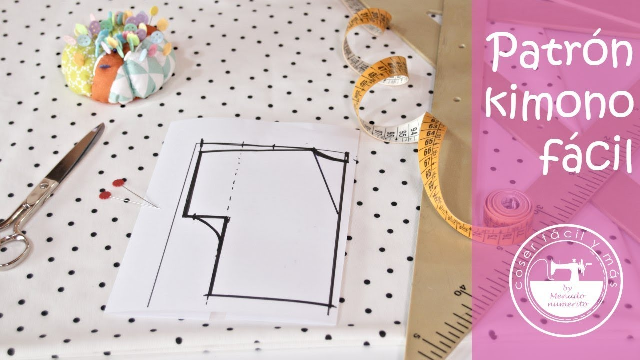 Trazar patrón de kimono a medida, fácil! - YouTube