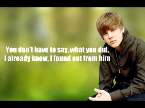 Justin Bieber - Heartless & Cry Me A River /w lyrics on screen