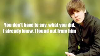 Justin Bieber - Heartless & Cry Me A River /w lyrics on screen