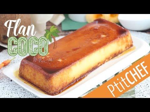 flan-extra-fondant-à-la-noix-de-coco-et-recouvert-de-caramel