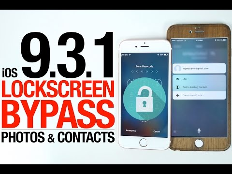 NEW iOS 9.3.1 Lockscreen Bypass - Access Photos & Contacts Without Passcode