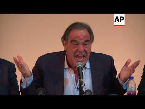 Filmmaker Oliver Stone criticises US and France during visit to Iran