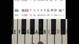 Chaaha hai tujhko chaahoonga har dam keyboard lesson part 1
